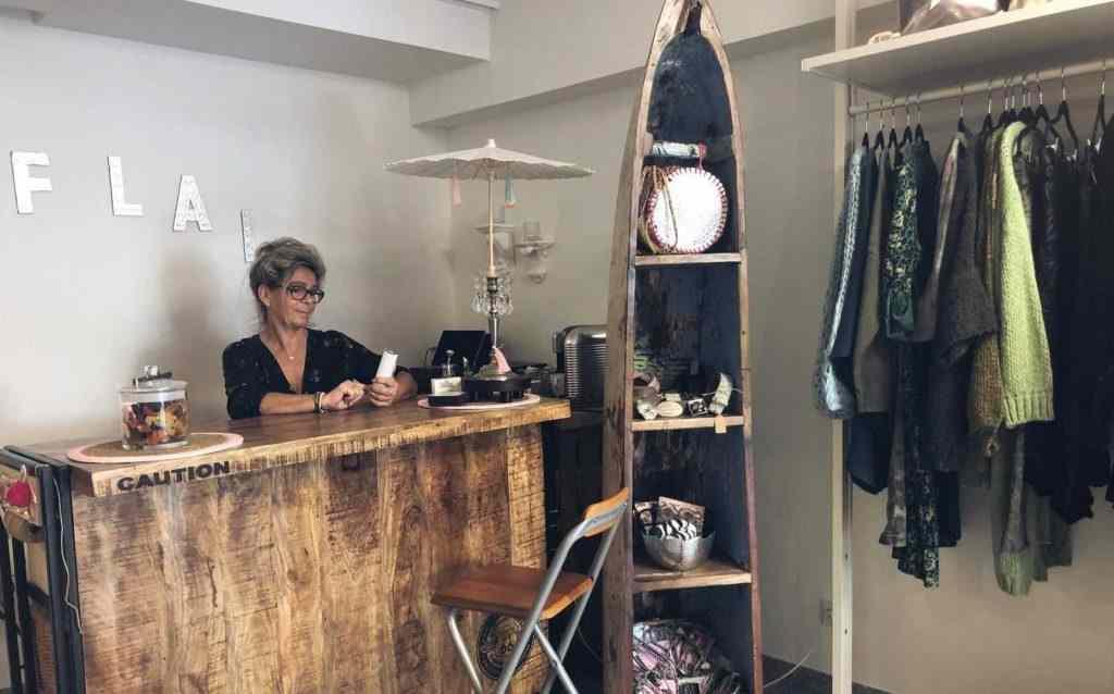 Verkauftheke der Damenboutique in Leverkusen